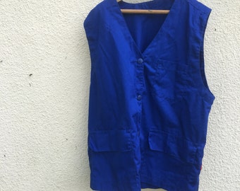 French workwear vest/ waistcoat /Blues/ size medium