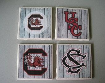 University of South Carolina Ceramic Tile Coasters - Set of 4