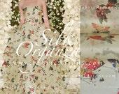 Butterflies Organza Silk Fabric. Wedding Fabric. SOD101312