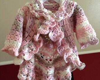 Little girls sweater jacket