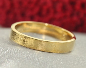 14k Wedding Band,14k Wedding Ring, GOLD RING 14K,Diamond texture Ring, 3.3-3.5mm Wide Gold Ring, 14k solid Gold Ring, 14k gold Mens Wedding