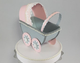 Pink and Gray baby carriage