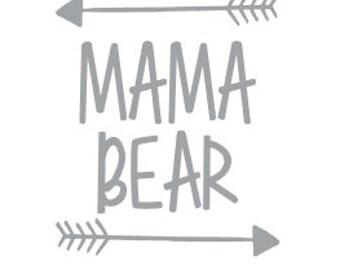 Mama Bear Decal - Yeti - Computer - Car Decal
