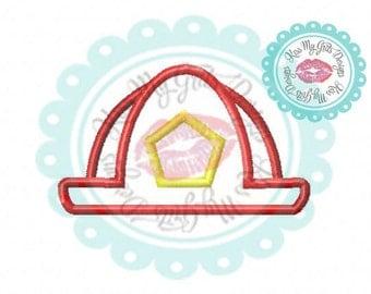 Fireman Firewoman Hat Machine Embroidery Applique Design