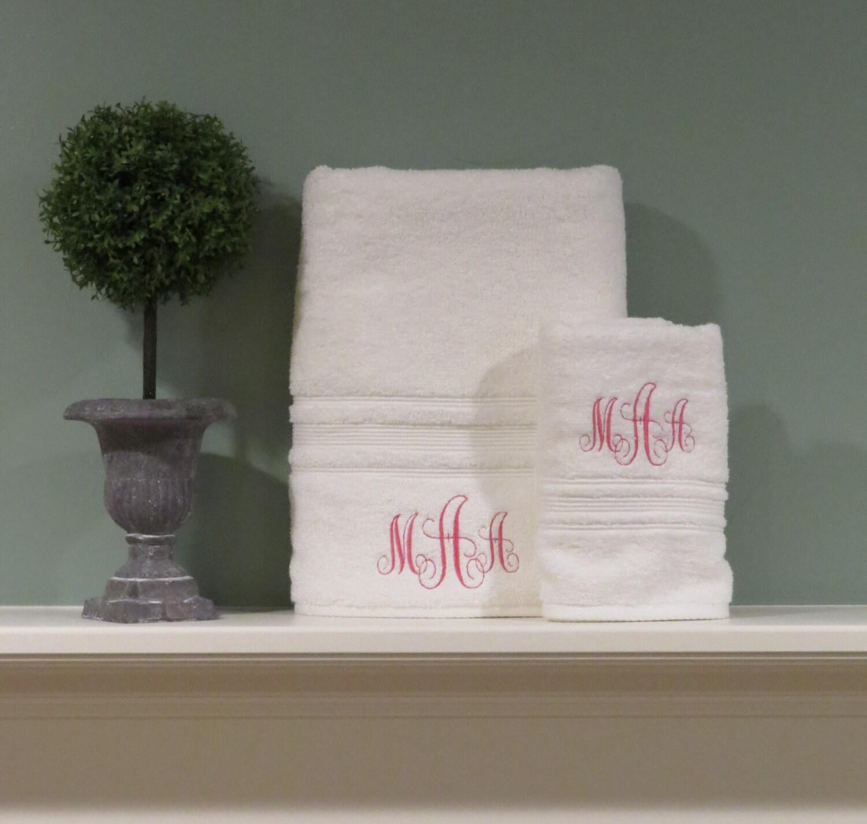 Monogrammed Towel Set Birthday Gift Graduation Gift