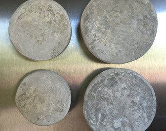Set of 4 Round (Moon) Concrete Magnets