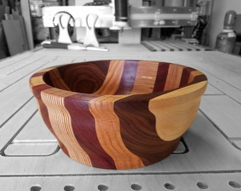 "10"" Spliced Wood Bowl"