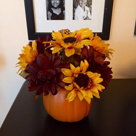 Orange Pumpkin Centerpiece Thanksgiving by BriEllaCreations ~ 233449_Thanksgiving Decorations Nz