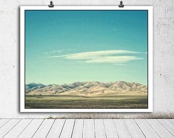 Desert photo, Nature photography, Utah photography, desert, Utah landscape, blue skies, blue, brown, nature decor, home decor, mountains