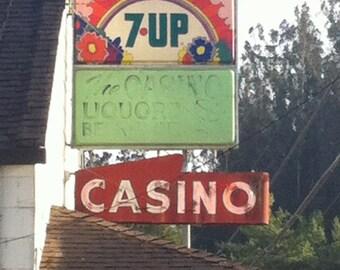 Shop in Bodega Bay, casino, deli, California, liquor shop, 7 Up,
