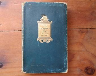 1917 The Shadow Line, Joseph Conrad, Doubleday, Page & Company, shadow line, vintage book, antique book