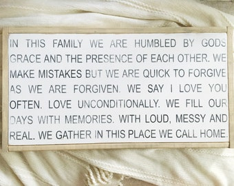 Family rules | family mantra | home is where our story begins | fixer upper decor
