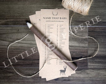 Oh Deer Baby Shower Game, Name That Baby, Printable Baby Shower Game, INSTANT DOWNLOAD