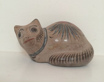 Possibly a Possum? Hand Painted Mexican Ceramic Sculpture