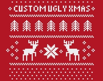 Custom Ugly Christmas Sweater - You pick the text!