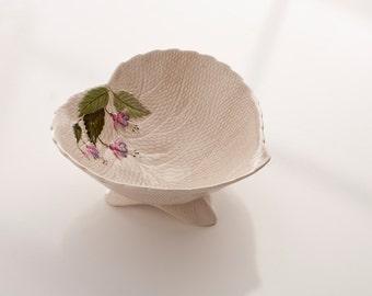 Crown Devon Fuschia Leaf-Shaped Bowl, 1950s