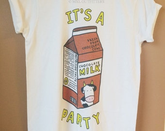 Chocolate Milk Party T-Shirt © Design by Euclea Tan