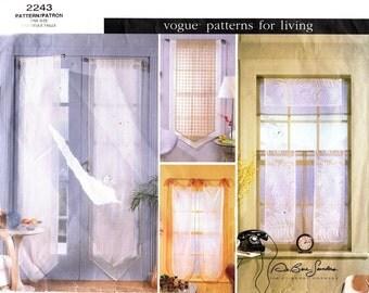 Vogue 2243 Classy Window Sheers / 1998 UNCUT