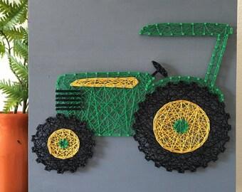 "12"" Tractor String Art"