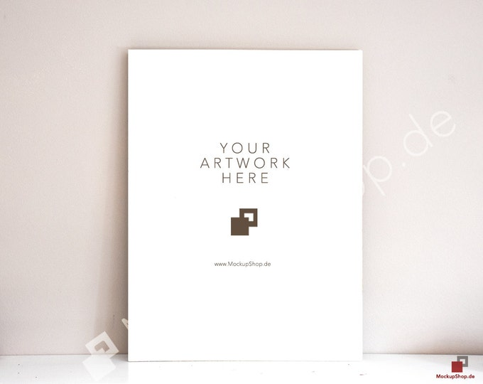 5x7 POSTER MOCKUP ARTPRINT Mockup without Frame // Instant Download // Mockup for Poster Artworks Paintings / Painting Mockup / Mockupshop