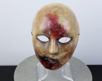 Zombie Mask, Walking Dead Mask, Halloween Mask, Hand Painted Mask