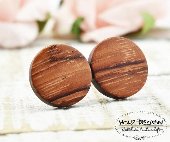 Ohrringe Aus Holz FUr Männer ~ Ø11mm Holzohrstecker Ohrringe aus Holz handgefertigte Holz Ohrstecker