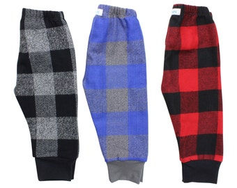 Buffalo Plaid Flannel Boy Pants Toddler Pants Fall Winter Boy Pants Baby Leggings Buffalo Check Red Black Blue Gray Baby Leggings