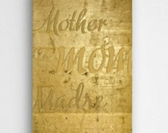 Mothers Gold Canvas Sign  (CA0117)
