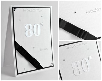 Handmade Birthday Card / Personalised Birthday Card / Simple Birthday Card / Choice of Colours / Cards for Men
