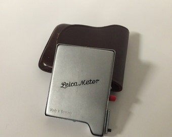 Old Leica Meter Low light Booster Cell for Leica-Meter 2 with case