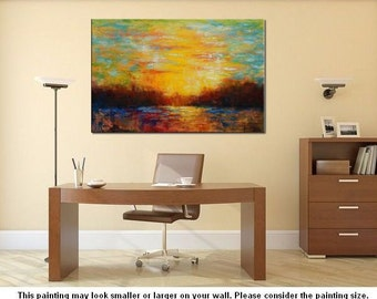 Abstract Landscape Painting, Extra Large Art, Canvas Painting, Canvas Wall Art, Original Painting, Large Abstract Art, Canvas Oil Painting