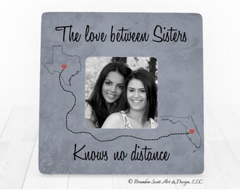Long Distance Sisters Frame, Long Distance Sister, Sister Frame, Sister Gift, Gift For Sister, Sisters, Sister in Law Frame Gift