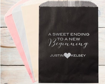 A Sweet Ending to a New Beginning Personalized Candy Bag | Cake Bag | Candy Buffet Bag