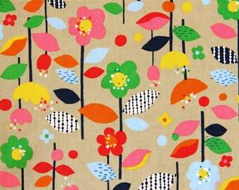 Cosmo Floral Garden Beige (Half metre)