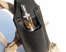 Leather E-Cig Belt holster * Belt Pouch * Hand Made from Genuine leather * Vape case * Vape Holster * Gift Box * E Cig case
