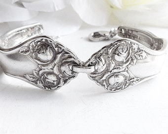 For Her, Spoon bracelet, Vintage Spoon jewelry, Antique Spoon Bracelet,Silverware Bracelet, Antique  Silver Spoon Jewelery, Silver Bracelet