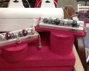Imitation Snake Bracelet - 9 beads, bracelet and lock included.