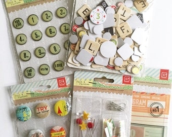 Basic Grey Fact or Fiction Bundle Scrapbook Embellishment
