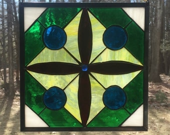 Stained glass geometric pattern