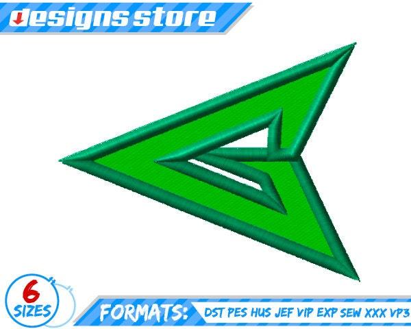 GREEN ARROW APPLIQUE Embroidery design Superhero Machine Logo Green Arrow Superhero Logo