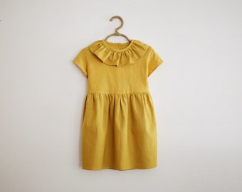 Linen Tilly Dress - Marigold