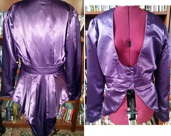 2X Purple Satin Victorian Elizabeth Jacket