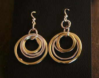 Forged Circle Earring