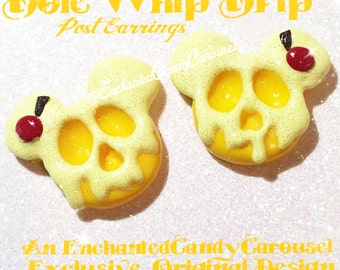 Disneyland Dole Whip Drip Poison Apple Style Mickey Earrings