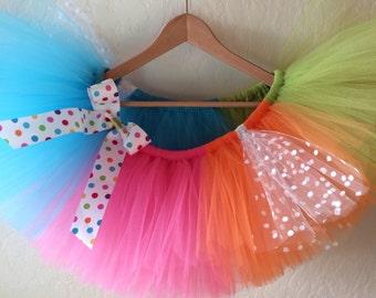 Fun Run Tutu, Rainbow Tutu, Running Tutu Skirt, Colorful Tutu, Adult Tutu, Run Disney Tutu, Spring Tutu, Race Costume