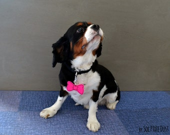 Bow Tie Dog Tag - Personalized Pet ID, Pet Accessory