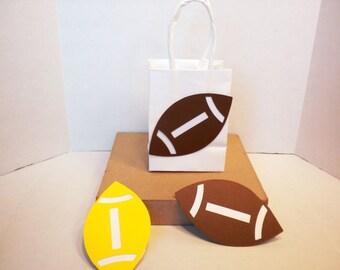Football Gift Bag-Birthday Gift Bags, Gift Bags, Baby Shower Gift Bags, Paper Gift Bags,Paper Bags, Football Bags