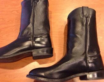 Men's black Nocona boots | size 9DD | Black leather men's cowboy boots