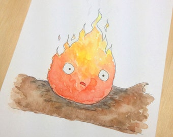 Howl's Moving Castle - Calcifer Print