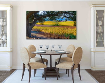 California Autumn Print Napa Valley Photo Wine Country Fall Home Decor Wine Valley